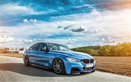BMW 335i F30 coche azul