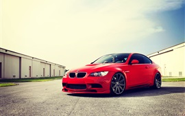 Preview wallpaper BMW M3 E92 red car at sunny day