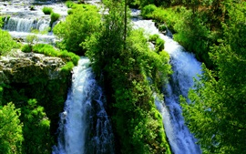 Preview wallpaper Beautiful waterfalls, greens, nature