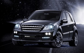Preview wallpaper Brabus ML63 Biturbo black car at night