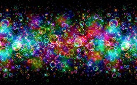 Colorful bubbles, beautiful, rainbow, abstract Wallpapers Pictures Photos Images