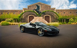 Preview wallpaper Ferrari 458 Spider black supercar