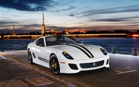 Preview wallpaper Ferrari 599 GTO 2-seater white sports car