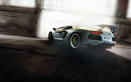 Preview wallpaper Lamborghini Aventador supercar high speed