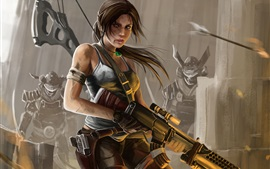 Preview wallpaper Lara Croft, Tomb Raider, art painting