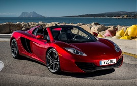 McLaren MP4-12C Spyder supercar rojo