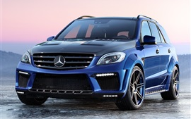 Preview wallpaper Mercedes-Benz ML63 AMG Inferno blue car