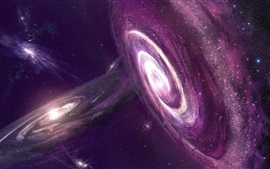 Space, the universe, stars, galaxies, nebula, purple