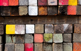 Preview wallpaper Wood, lumber, paint, colorful