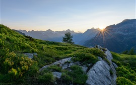 Preview wallpaper Alps, Switzerland, mountains, dawn, sunrise
