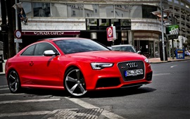 Preview wallpaper Audi RS5 red car side view
