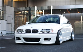 Preview wallpaper BMW M3 E46 white car