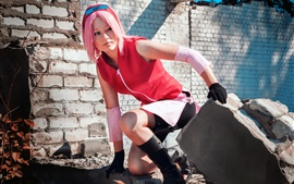 Preview wallpaper Cosplay girl, Naruto