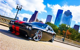 Dodge Challenger RT black car side view