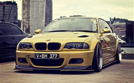 Gold BMW M3 E46 car