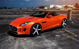 Jaguar F Type red supercar