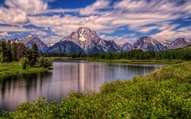 Mount Moran, Snake River, Grand Teton National Park, Wyoming