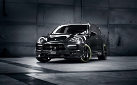 Preview wallpaper Porsche Cayenne black SUV