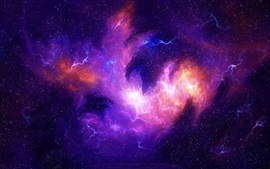 Preview wallpaper Stars, universe, nebula, purple light