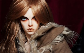 Preview wallpaper Toy, doll, long hair girl, wound