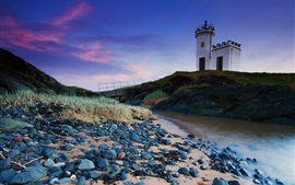 Preview wallpaper United Kingdom, Scotland, lighthouse, stream, grass
