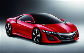 Acura Nsx concept red car