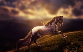 Preview wallpaper Art rendering, horse running