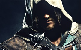 Preview wallpaper Assassin's Creed IV: Black Flag, face, shadow