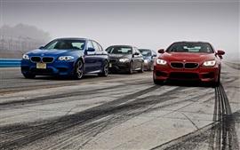 壁紙のプレビュー BMW M5、M6赤、青、黒の車