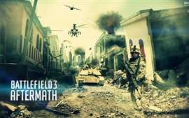 Preview wallpaper Battlefield 3: Aftermath, city, soldiers