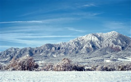 Preview wallpaper Colorado landscape, mountains, snow, trees