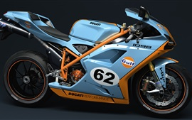 Preview wallpaper Ducati 1098 GULF motorcycle