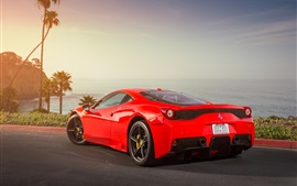 Preview wallpaper Ferrari 458 Speciale red supercar back view