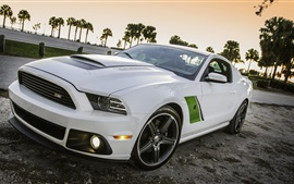 Preview wallpaper Ford Mustang 2014 RS3 white car