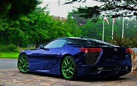 Aperçu fond d'écran Lexus 324 voiture bleue vue de dos