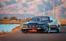 Nissan 240SX black car