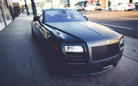 Preview wallpaper Rolls-Royce, black matte luxury car