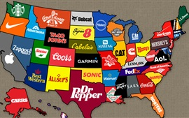 Preview wallpaper American brand on the map