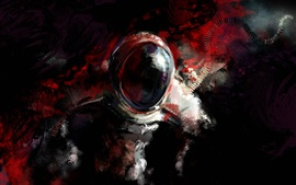 Preview wallpaper Astronaut, abstract design