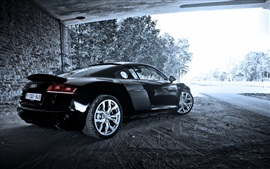 Preview wallpaper Audi R8 V10 black car