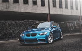 Preview wallpaper BMW E92 M3 blue car
