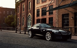 Preview wallpaper BMW Z4 E89 sDrive35i black car at street