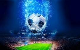 Preview wallpaper Creative design, football, stadium, water