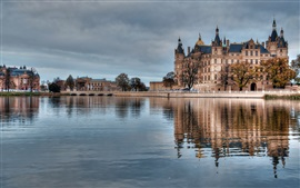 Preview wallpaper Germany, Hamburg, river, water, castles