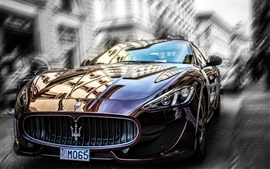 Preview wallpaper Maserati brown car front view
