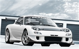 Preview wallpaper Mazda RX-7 white car front view