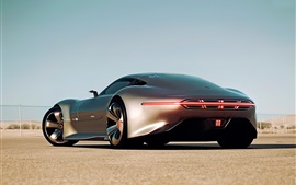 Preview wallpaper Mercedes-Benz AMG Vision Gran Turismo silver car back view