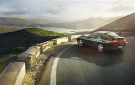 Preview wallpaper Porsche 928 GTS 1991 green car