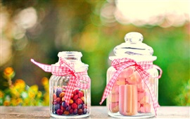 Preview wallpaper Sweet food, candy, bottle