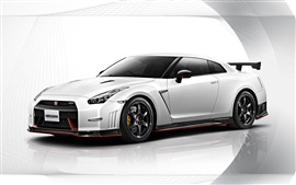 Preview wallpaper 2015 Nissan GT-R Nismo white car